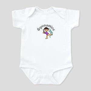 Dark Hair Gymnast Girl Infant Bodysuit