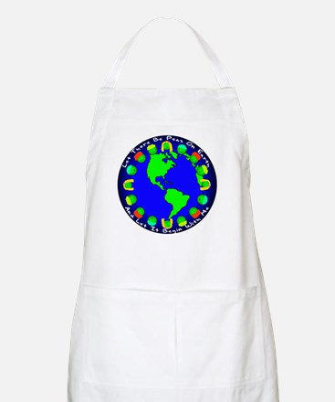 Let There Be Peas On Earth... BBQ Apron