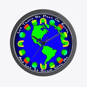 Let There Be Peas On Earth... Wall Clock