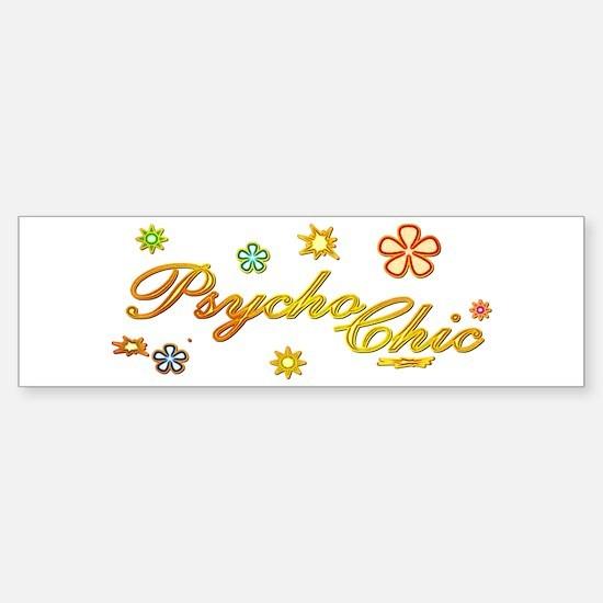 60's Psycho Chic Bumper Bumper Bumper Sticker