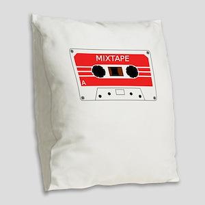 Old School Cassette Tape Love Burlap Throw Pillow