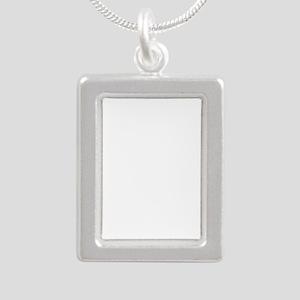 I Love Alpacas White Alpaca Silhouette Necklaces