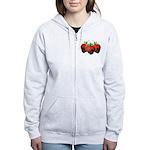 Chocolate Strawberry Women's Zip Hoodie