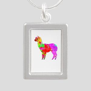 Psychedelic alpaca distressed Necklaces