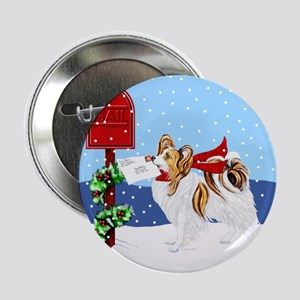 Christmas Papillon Mail Sable Button