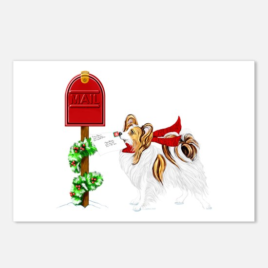 Christmas Papillon Mail Sable Postcards (Package o