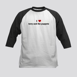 I Love terry and the puppets Kids Baseball Jersey
