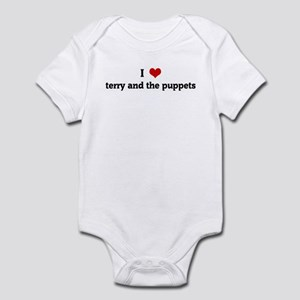 I Love terry and the puppets Infant Bodysuit