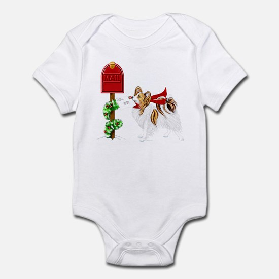 Christmas Papillon Mail Sable Infant Bodysuit