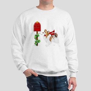 Christmas Papillon Mail Sable Sweatshirt