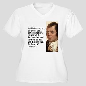 """Burns """"The Lasses"""" Women's Plus Size V-Neck T-Shir"""