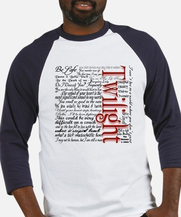 Movie Twilight Quotes Gifts Baseball Jersey