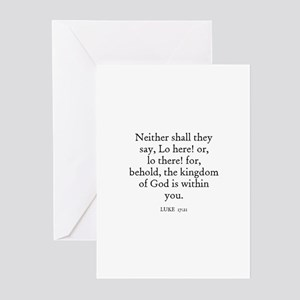 LUKE  17:21 Greeting Cards (Pk of 10)