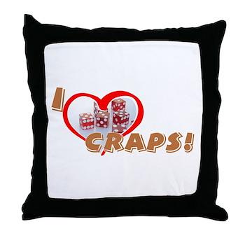 Craps Throw Pillow