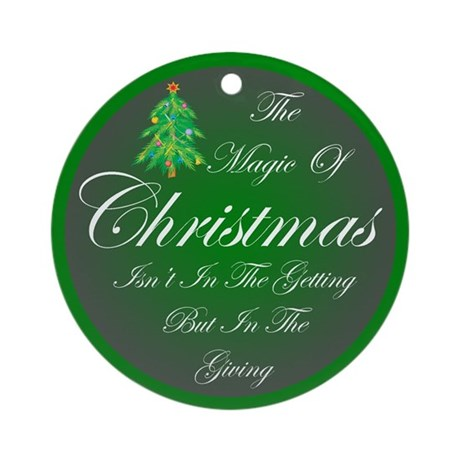 Magic Christmas Ornament (Round)