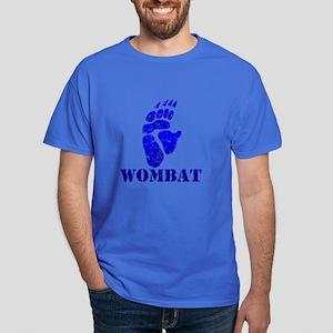 Blue Wombat Footprint Dark Colored T-Shirt