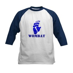 Blue Wombat Footprint Kids Baseball Jersey