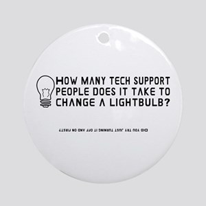 Tech Support Ornament (Round)
