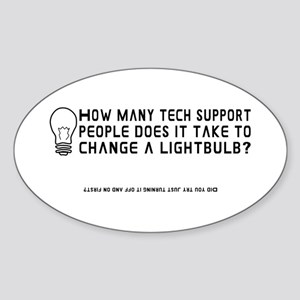 Tech Support Oval Sticker