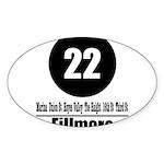 22 Fillmore (Classic) Oval Sticker