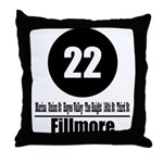22 Fillmore (Classic) Throw Pillow
