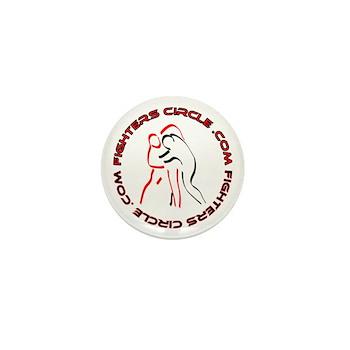 """FightersCircle.com"" Mini Button (10 pack)"