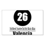 26 Valencia (Classic) Rectangle Sticker