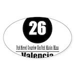 26 Valencia (Classic) Oval Sticker