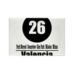 26 Valencia (Classic) Rectangle Magnet (10 pack)