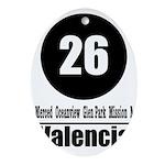26 Valencia (Classic) Oval Ornament
