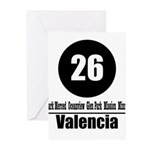 26 Valencia (Classic) Greeting Cards (Pk of 10)
