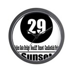 29 Sunset (Classic) Wall Clock