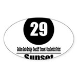 29 Sunset (Classic) Oval Sticker