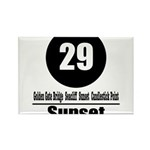 29 Sunset (Classic) Rectangle Magnet (100 pack)