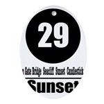 29 Sunset (Classic) Oval Ornament