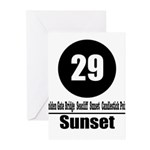 29 Sunset (Classic) Greeting Cards (Pk of 10)