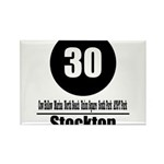 30 Stockton (Classic) Rectangle Magnet (10 pack)