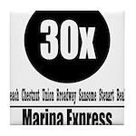 30x Marina Express (Classic) Tile Coaster