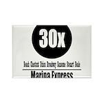 30x Marina Express (Classic) Rectangle Magnet (100