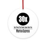 30x Marina Express (Classic) Ornament (Round)