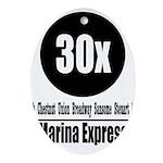 30x Marina Express (Classic) Oval Ornament