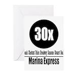 30x Marina Express (Classic) Greeting Cards (Pk of