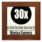 30x Marina Express (Classic) Framed Tile