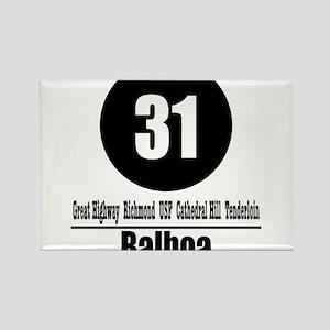 31 Balboa (Classic) Rectangle Magnet