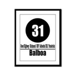 31 Balboa (Classic) Framed Panel Print