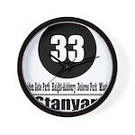 33 Stanyan (Classic) Wall Clock
