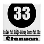 33 Stanyan (Classic) Tile Coaster