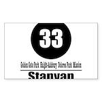 33 Stanyan (Classic) Rectangle Sticker
