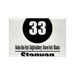 33 Stanyan (Classic) Rectangle Magnet (100 pack)