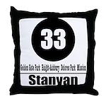33 Stanyan (Classic) Throw Pillow
